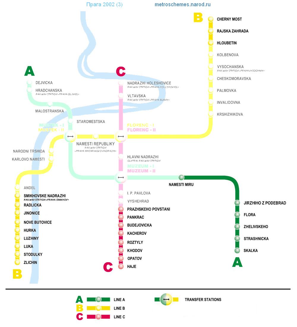 prague, схема метро, станция nove butovice
