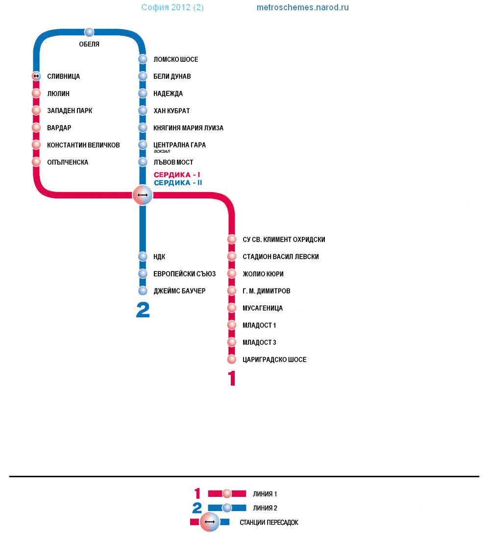 Схема метро - История